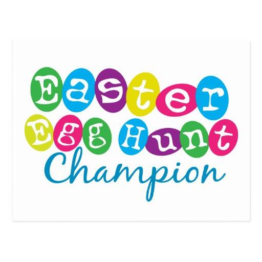 Easter Egg Hunt Champion Postcard