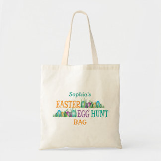 Easter Egg Hunt, Colorful Eggs in Grass Tote Bag