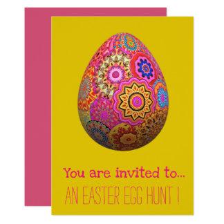 Easter Egg Hunt Easter party girly easter egg Card