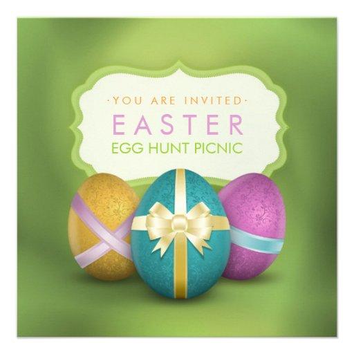 Easter Egg Hunt Family Picnic Invitation Square