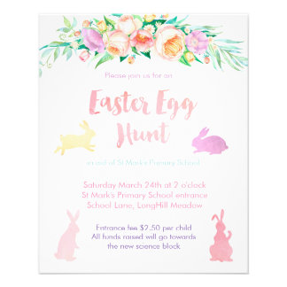 Easter Egg hunt flyers for charity event