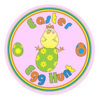 Easter Egg Hunt Hen on Green Egg Cute Stickers