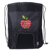 Easter Egg Hunt In Apple Funny Teacher Drawstring Backpack