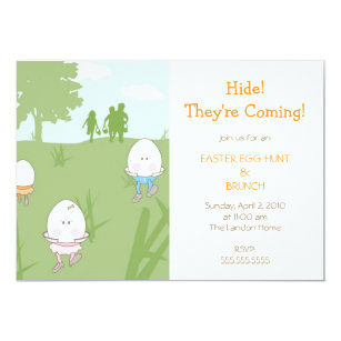 Easter egg hunt invitations zazzle easter egg hunt invitation maxwellsz