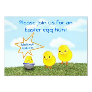 Easter Egg Hunt Invitation Easter fun Easter chick