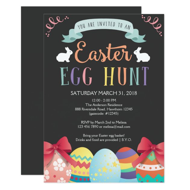 easter egg hunt invitations  announcements  zazzle, party invitations
