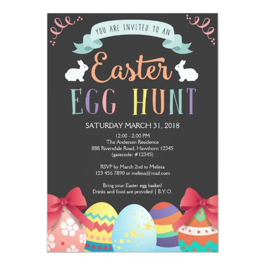 Easter Egg Hunt Invitation Egg Hunt Invite