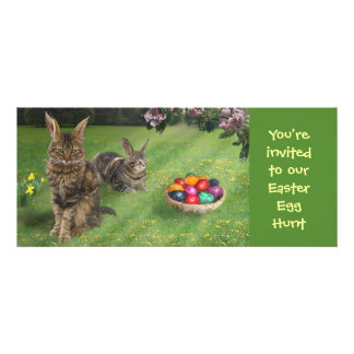 Easter Egg Hunt Invitation for Catlovers