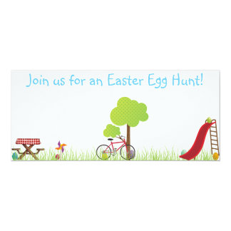 Easter Egg Hunt invite with hidden eggs