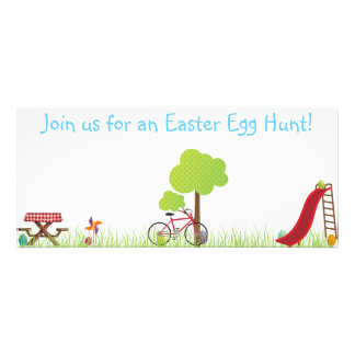 Easter Egg Hunt invite with hidden eggs