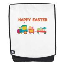 Easter Egg Hunt Kids Gift Happy Easter Train Backpack