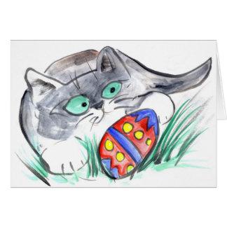 Easter Egg Hunt - Kitten finds an Egg Card