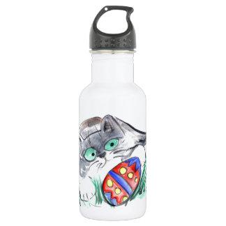 Easter Egg Hunt - Kitten finds an Egg 18oz Water Bottle