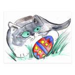 Easter Egg Hunt - Kitten finds an Egg Postcard
