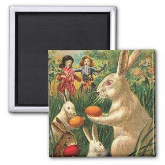 Easter Egg Hunt 2 Inch Square Magnet
