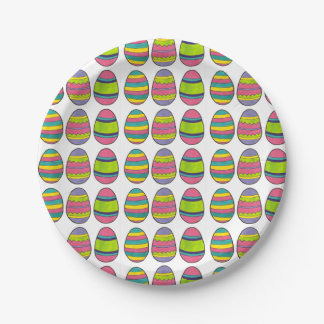 Easter Egg Hunt Painted Eggs Happy Easter Plates