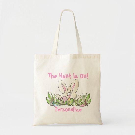 Easter Egg Hunt - Personalize Tote Bag