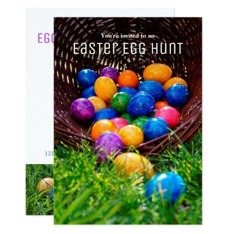 Easter Egg Hunt Photo Invitation