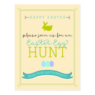 Easter Egg Hunt Postcard Invitation