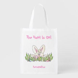 Easter Egg Hunt - The Hunt is on Grocery Bag