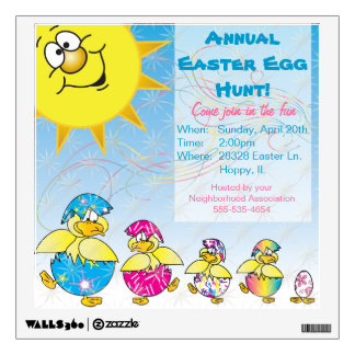 Easter Egg Hunt Wall Decal