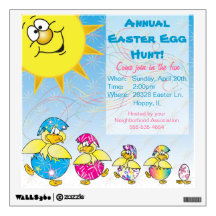 Easter Egg Hunt Wall Decal Room Sticker
