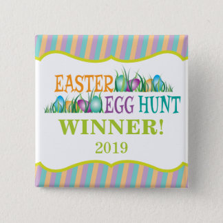 Easter Egg Hunt Winner, Colorful Eggs Pinback Button