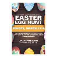 Easter Egg Hunt with Easter Eggs Flyer