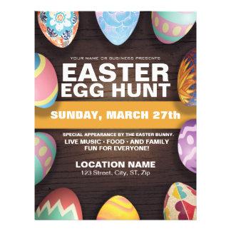 Easter Egg Hunt with Easter Eggs Flyer