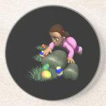 Easter Egg Hunting Beverage Coaster