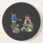 Easter Egg Hunting Beverage Coasters
