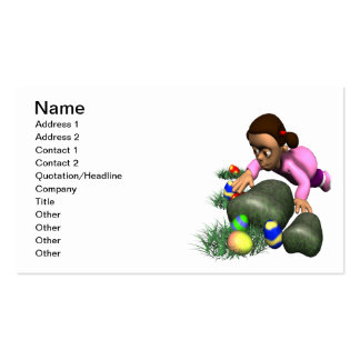 Easter Egg Hunting Business Card Templates