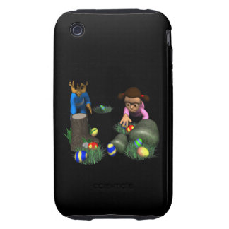 Easter Egg Hunting Tough iPhone 3 Case