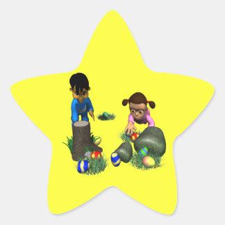 Easter Egg Hunting Star Sticker