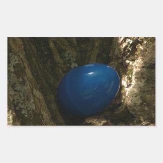 easter egg in a tree for easter egg hunt rectangular sticker