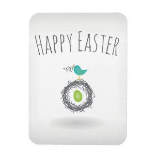 Easter Egg in Bird Nest Greeting Card Rectangular Photo Magnet