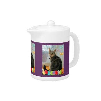 Easter Egg Indigo Teapot