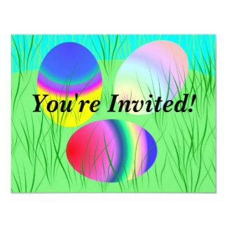 Easter egg invitation customizable