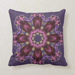 Easter Egg Kaleidoscope Design No 07 Throw Pillow