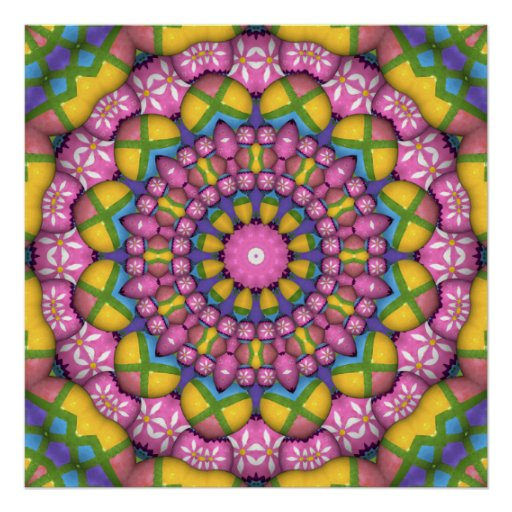 Easter Egg Kaleidoscope Poster