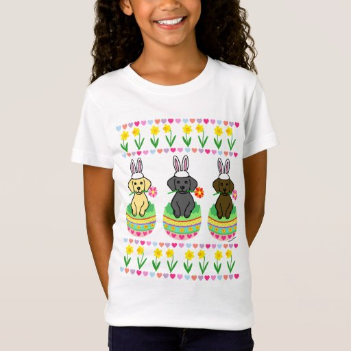 Easter Egg Lab Puppies Cartoon T-Shirt