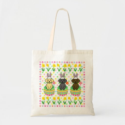 Easter Egg Lab Puppies Cartoon Tote Bag
