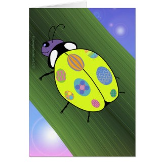 Easter Egg Ladybug Card