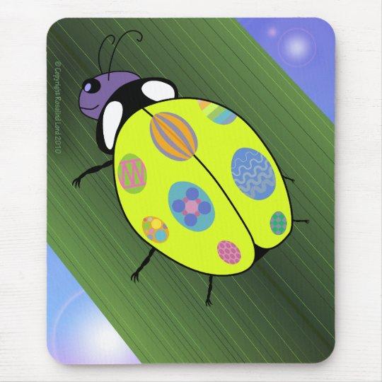 Easter Egg Ladybug Mouse Pad