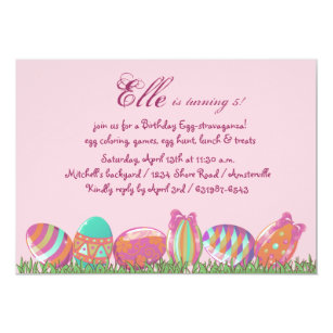 Easter birthday invitations announcements zazzle easter egg march holiday birthday party invitati invitation filmwisefo