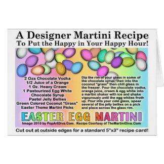 Easter Egg Martini Recipe Cards