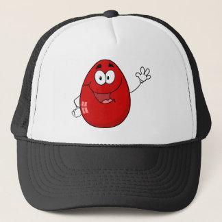 Easter Egg Mascot  Waving A Greeting Trucker Hat