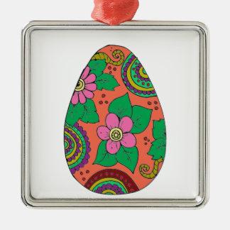 Easter Egg Metal Ornament