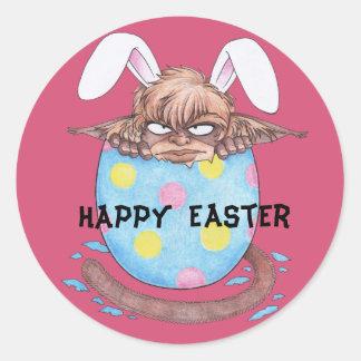 Easter Egg Monkey Gnome Classic Round Sticker