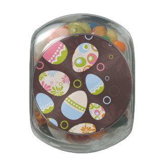 Easter Egg on Pink Background Glass Jars